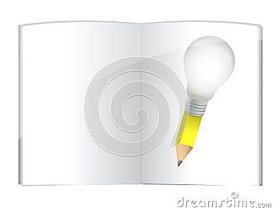 Book idea pencil