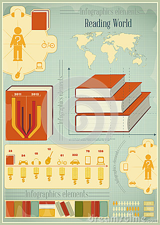 Free Book Infographics Elements Stock Image - 29262451