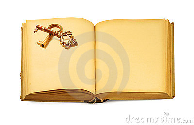 Book with key motif
