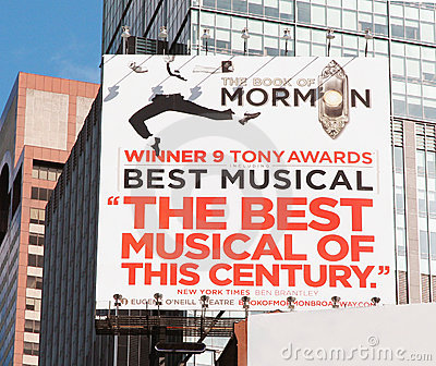The Book Of Mormon. Editorial Photography