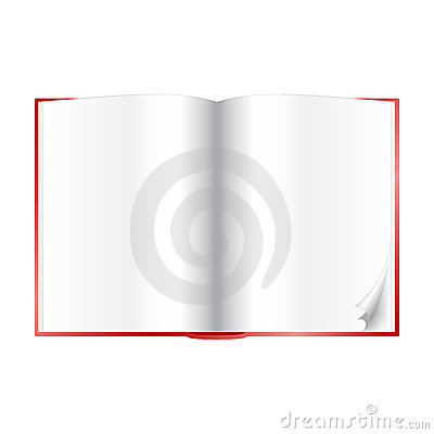 Book - open with blank white pages
