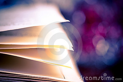 Book pages and bokeh