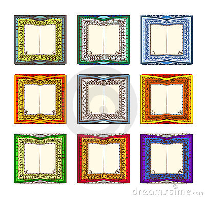 Book Pages Template Stock Images - Image: 19656874