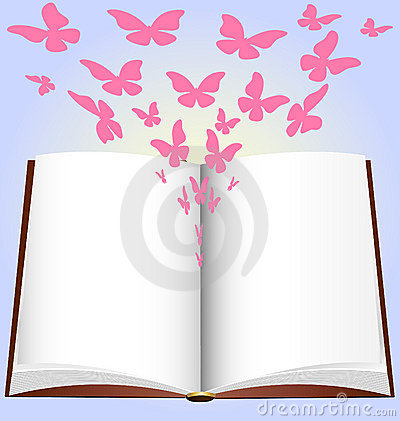 Book and paper butterfly