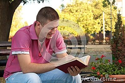 Book in park