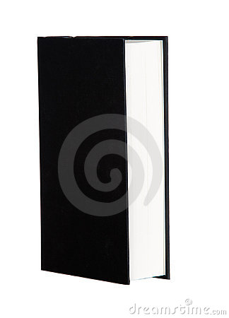 Book profile with black covers