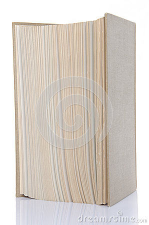 Book standing upright