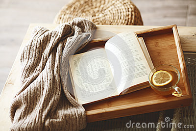 Book and sweater