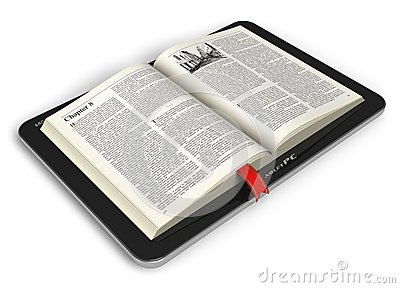 Book in tablet computer