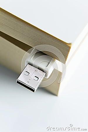 Book with USB plug