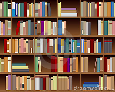 Bookcase Seamless Background