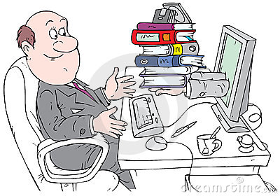 Bookkeeper working with Internet service