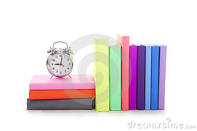 Books with alarm clock