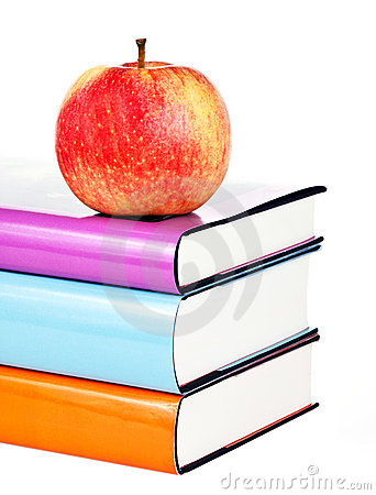 Free Books And Apple Royalty Free Stock Photography - 21392817