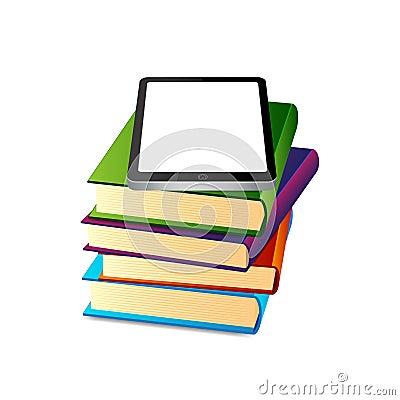Books ans tablet pc