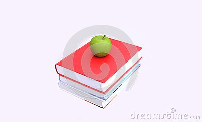 Books with an Apple on Top
