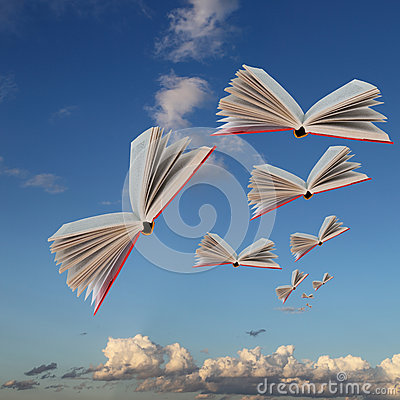 Free Books Are Flying Royalty Free Stock Image - 25889586