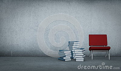 Books and chair