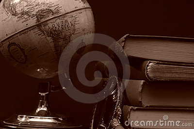 Books and Globes I