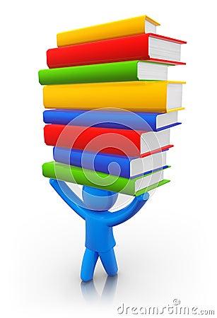 Books on head