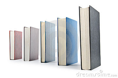 Books in high stack