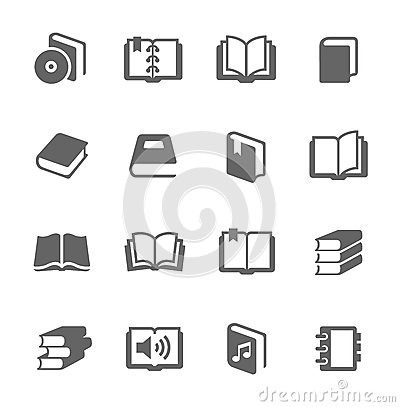 Free Books Icons Royalty Free Stock Photo - 35283285