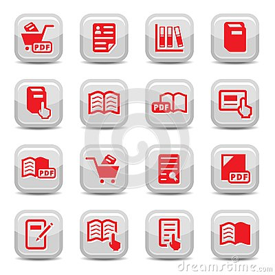 Books icons set