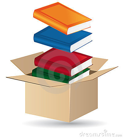 Free Books In A Box Royalty Free Stock Photography - 23380447