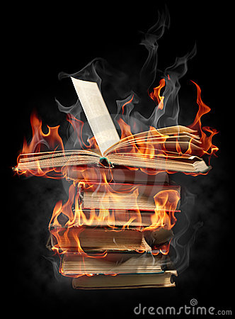 Free Books In Fire Royalty Free Stock Photo - 16582505