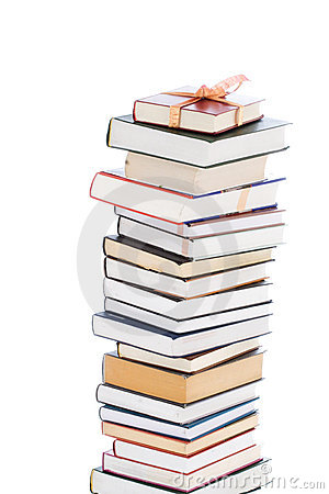 Free Books In Gift Packing Isolated On A White Stock Photography - 4532652