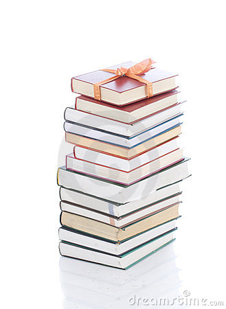 Free Books In Gift Packing Isolated On A White Royalty Free Stock Images - 5232899