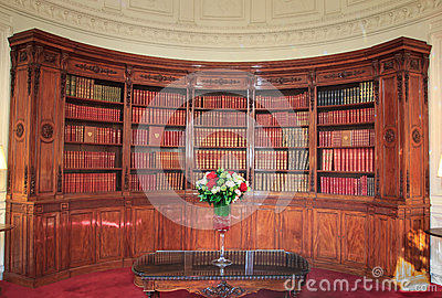 Books in Library in the Élysée Palace