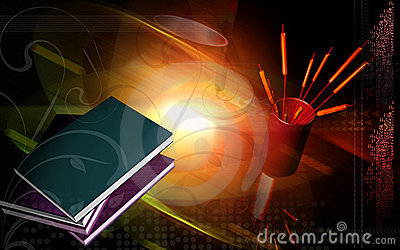 Books with light background