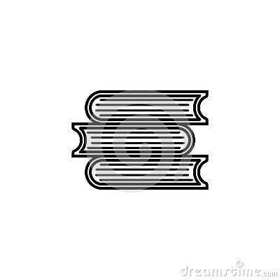 Books line icon, education and school element Vector Illustration