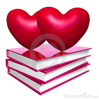 Books about love, marriage and romance icon symbol