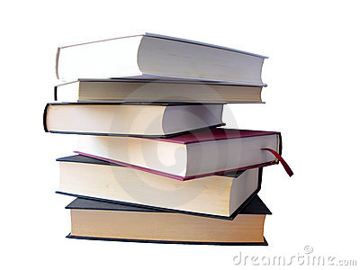 Books pile (clipping path)