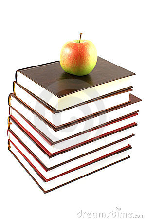 Free Books Pyramid With Apple Royalty Free Stock Image - 6126096