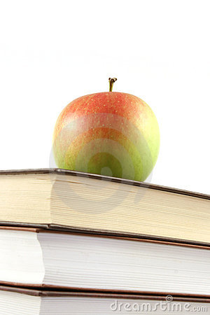 Free Books Pyramid With Apple On Top Royalty Free Stock Photo - 6126485