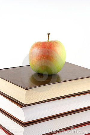 Free Books Pyramid With Apple On Top Royalty Free Stock Photography - 6126497