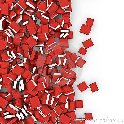 Books spill