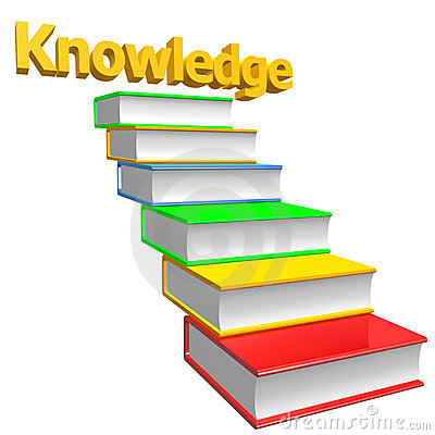 Books stairways to knowledge
