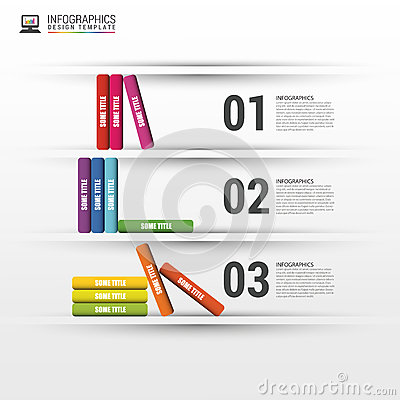 Books step business education infographics. Vector illustration Vector Illustration