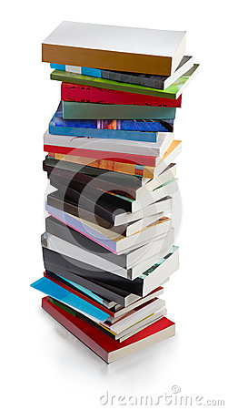 Books tower - clipping path