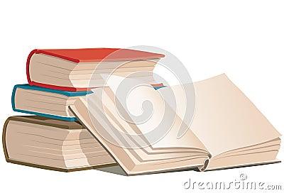 Books, vector