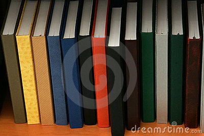 A bookshelf of diaries