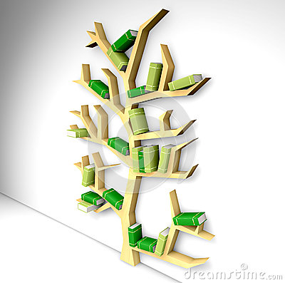 Bookshelf In The Shape Of Tree Stock Photos - Image: 31033583