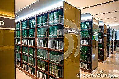 Bookshelf  in university library