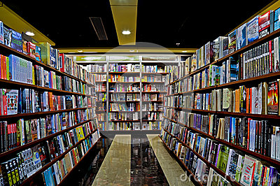 Bookstore interior Editorial Stock Image