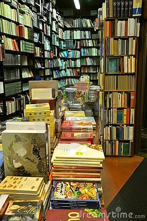 Bookstore in Italy Editorial Stock Photo