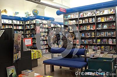 Bookstore in Rome Editorial Image